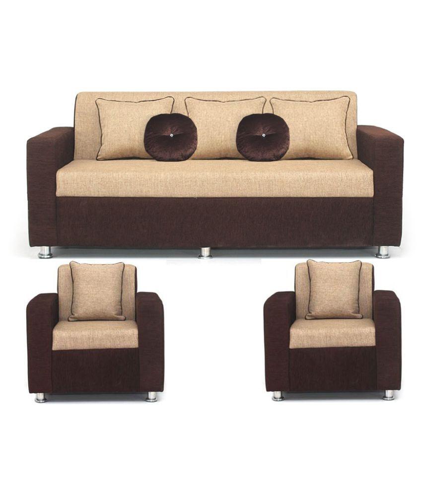 Bharat Lifestyle Tulip Fabric 3 1 1 Sofa Set Buy Bharat