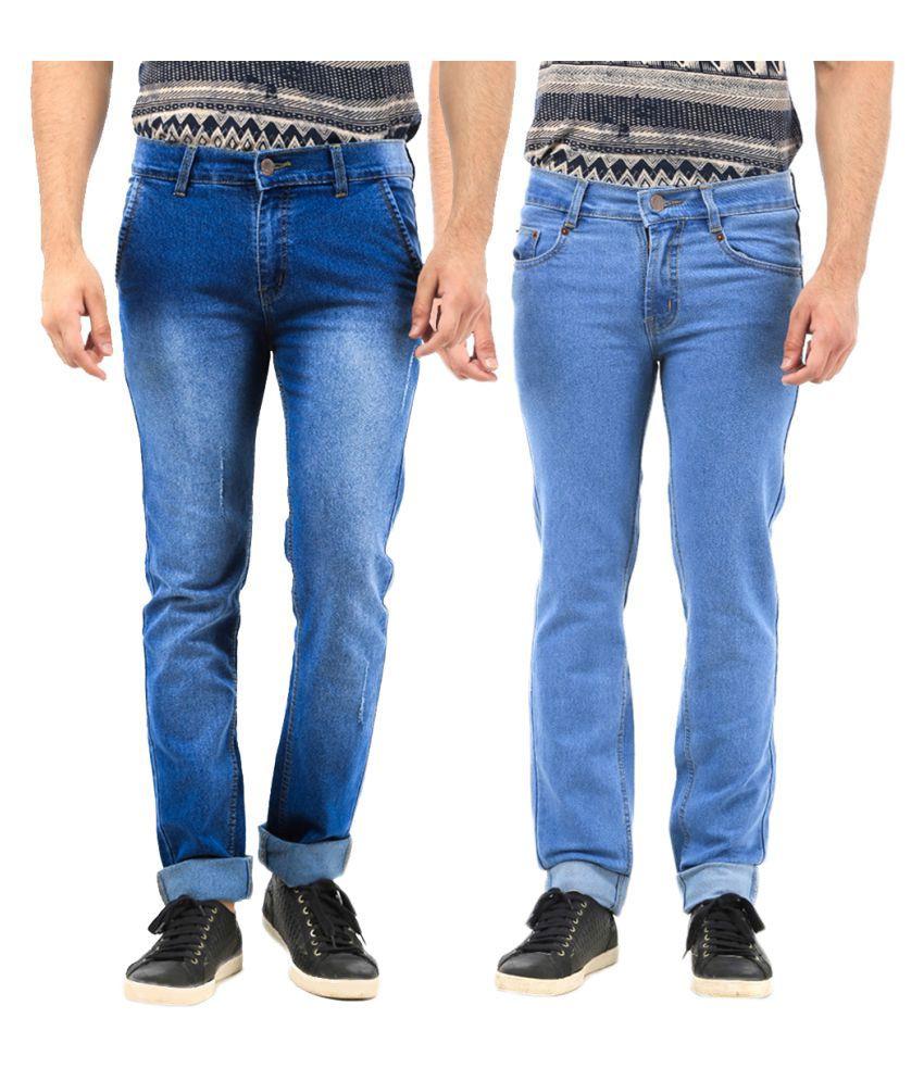 Van Galis Blue Regular Fit Jeans