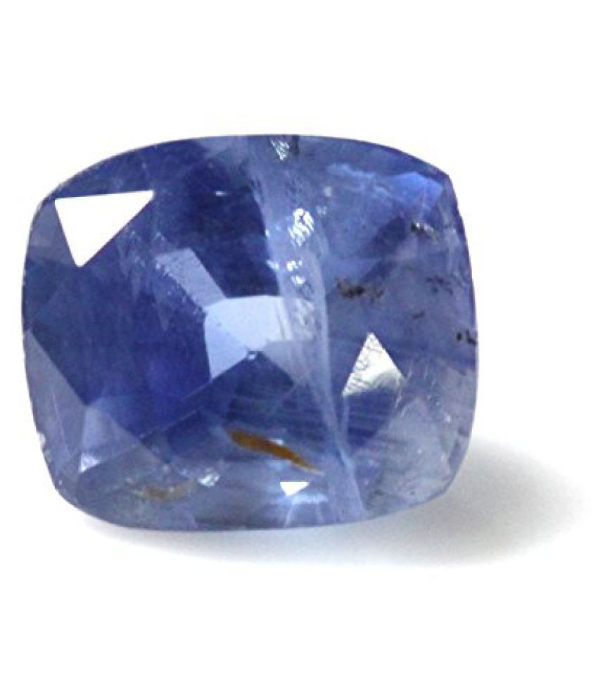 NEELAM LOOSE 100% NATURAL & CERTIFIED 3.59 ct. BLUE SAPPHIRE BIRTHSTONE BY ARIHANT GEMS AND JEWELS