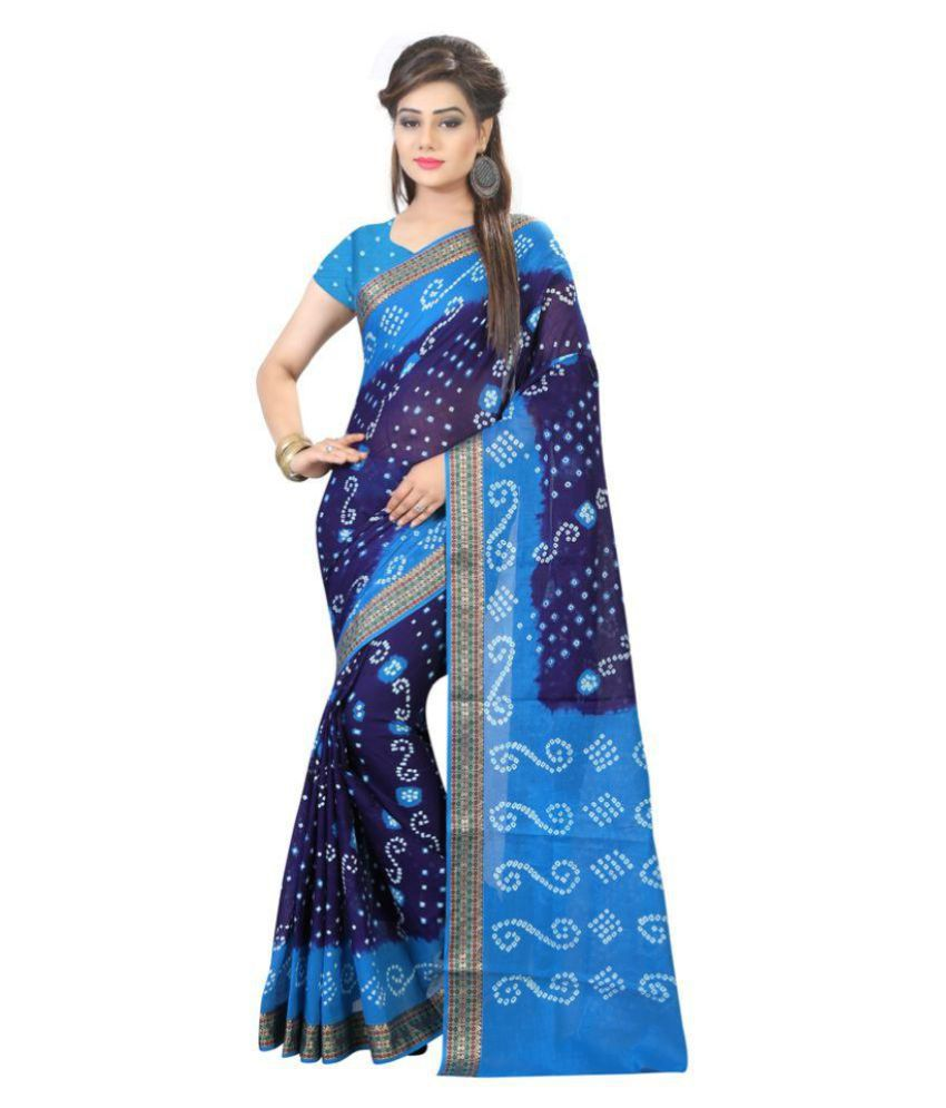 Edeal Online Blue and Grey Cotton Silk Saree