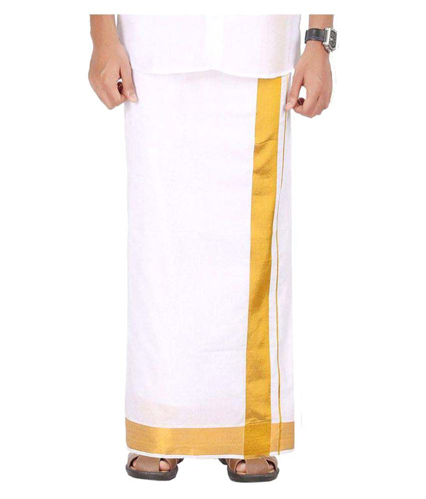 Prakasam Cotton White Dhoti