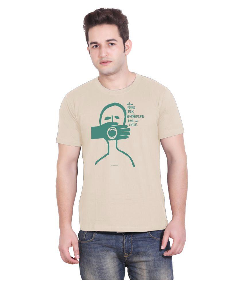 Tantra Beige Round T-Shirt