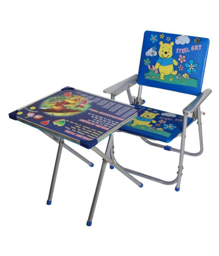 tanyash products blue kids study table and chair buy