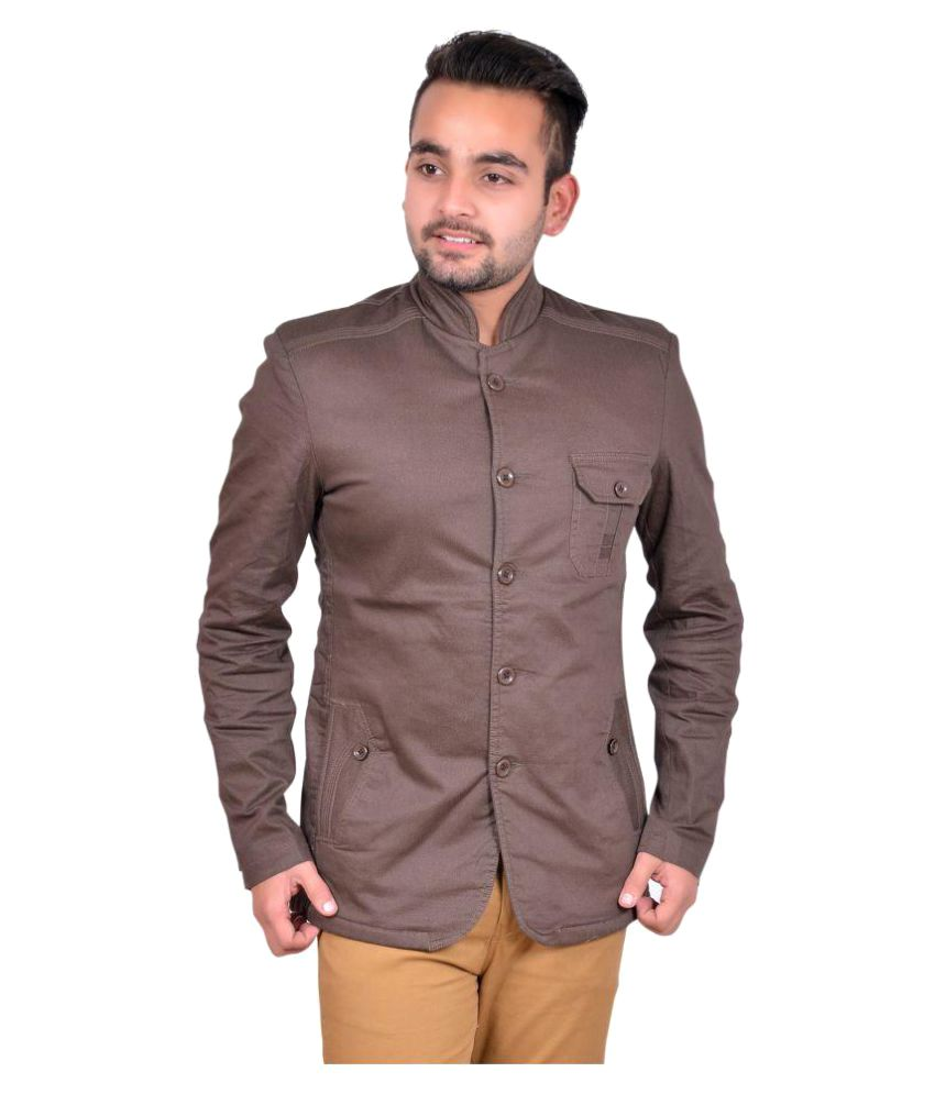 Gds Brown Solid Casual Blazers