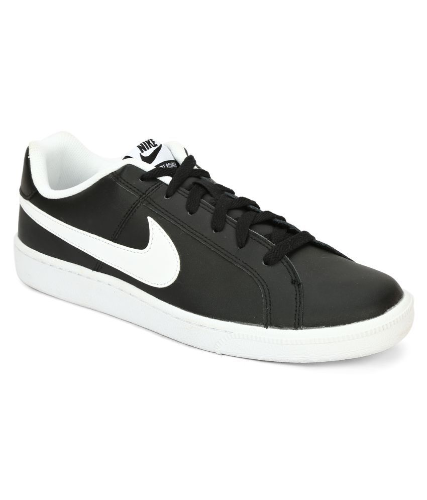 best sneakers 3db67 fb3f7 Nike Court Royale Black Tennis Shoes - Buy Nike Court Royale Black Tennis  Shoes Online at Best Prices in India on Snapdeal