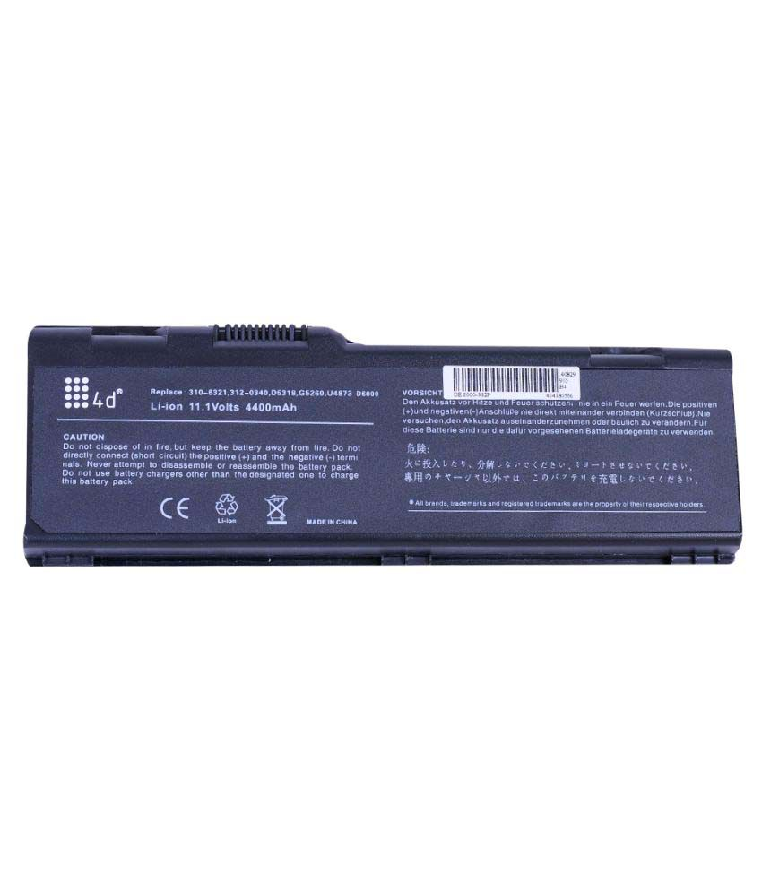 4d Impex Laptop battery Compatible For Dell INSP-F5134-6CLB