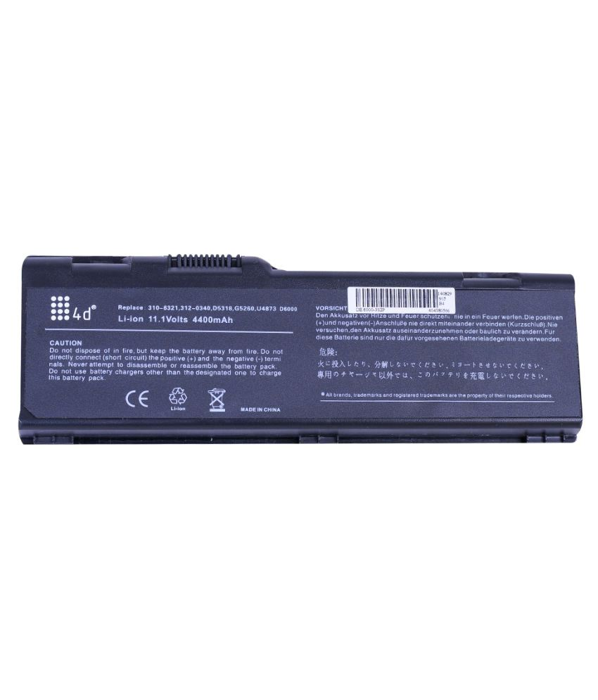 4d Impex Laptop battery Compatible For Dell 4d-DELL-INSP-M90-6CLB