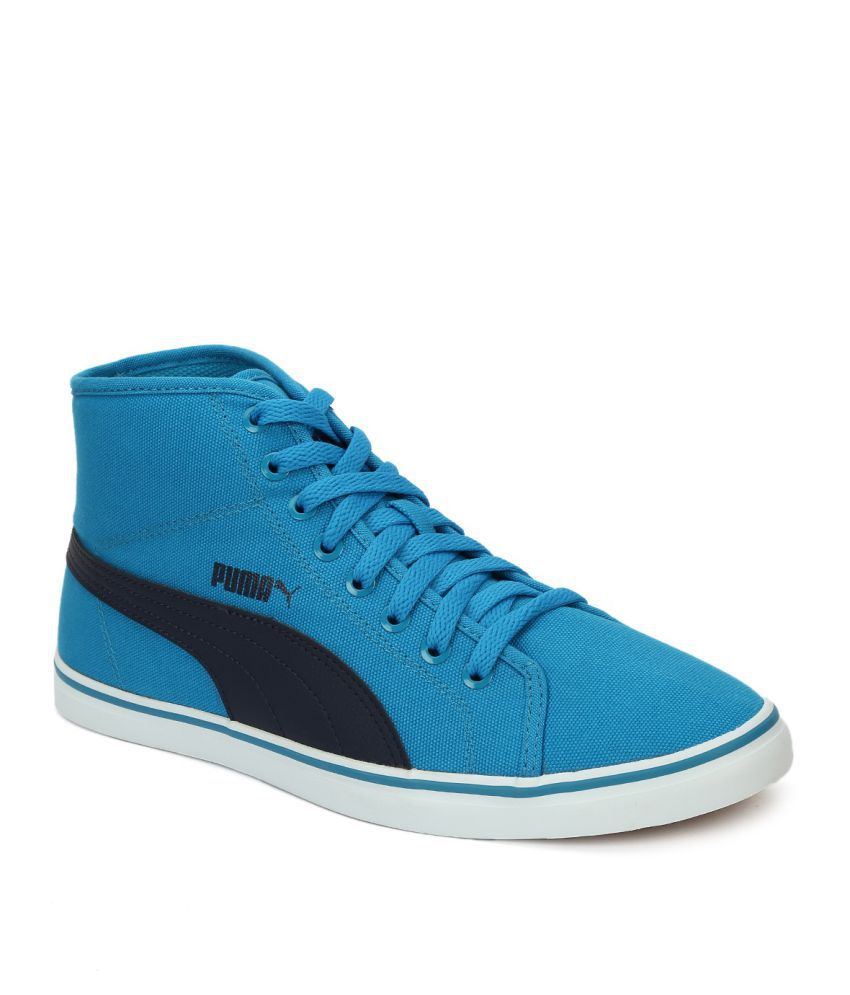 Puma Elsu v2 Mid CV DP Blue Casual Shoes - Buy Puma Elsu v2 Mid CV DP Blue  Casual Shoes Online at Best Prices in India on Snapdeal 3a226ea69
