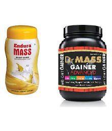 Endura Mass Gainer 500g+dr Well Weight Gainer 500 Gm Banana Weight Gainer Powder Pack Of 2