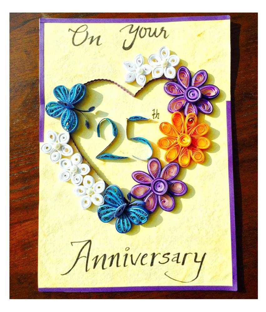 bonitahub multicolour happy 25th anniversary card buy online at