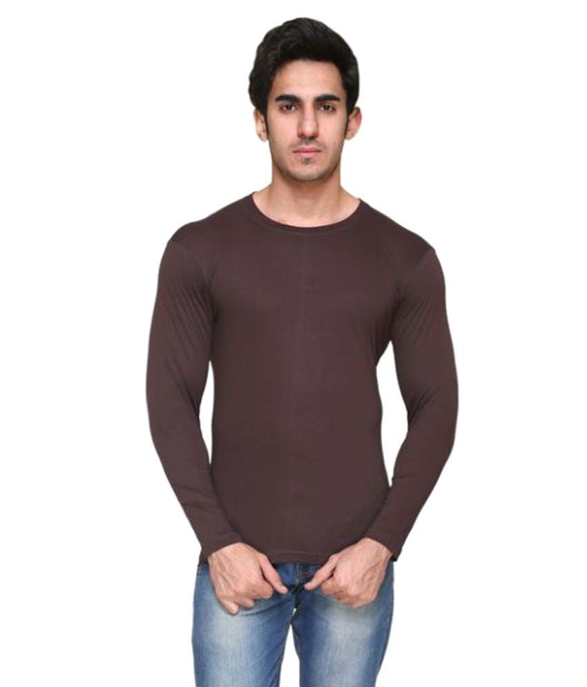 Colors & Blends Brown Round T-Shirt