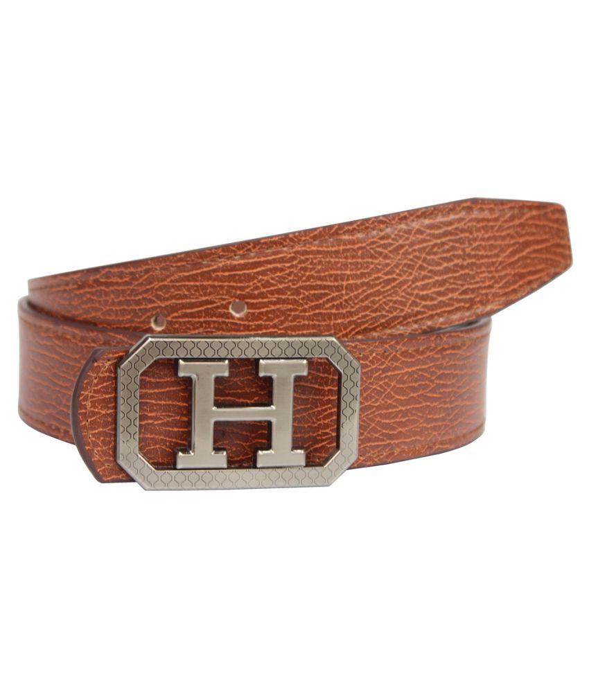 Fomti Beige Faux Leather Casual Belts