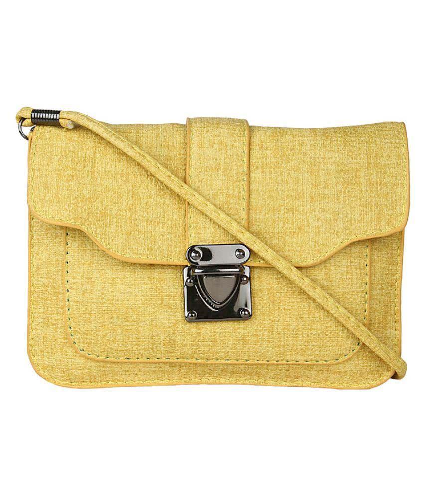 Moedbuille Yellow P.U. Sling Bag