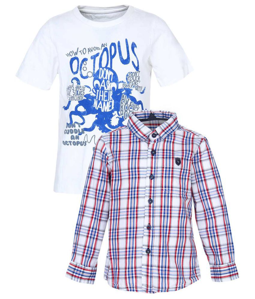 7db5c79c3 Mothercare Boys Multicolor Shirt - Buy Mothercare Boys Multicolor ...