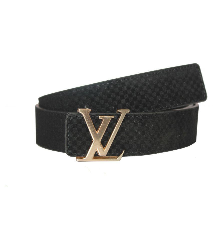 Bacchus Black Faux Leather Casual Belts