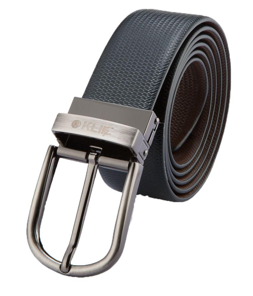 Klik2 Black Leather Formal Belts