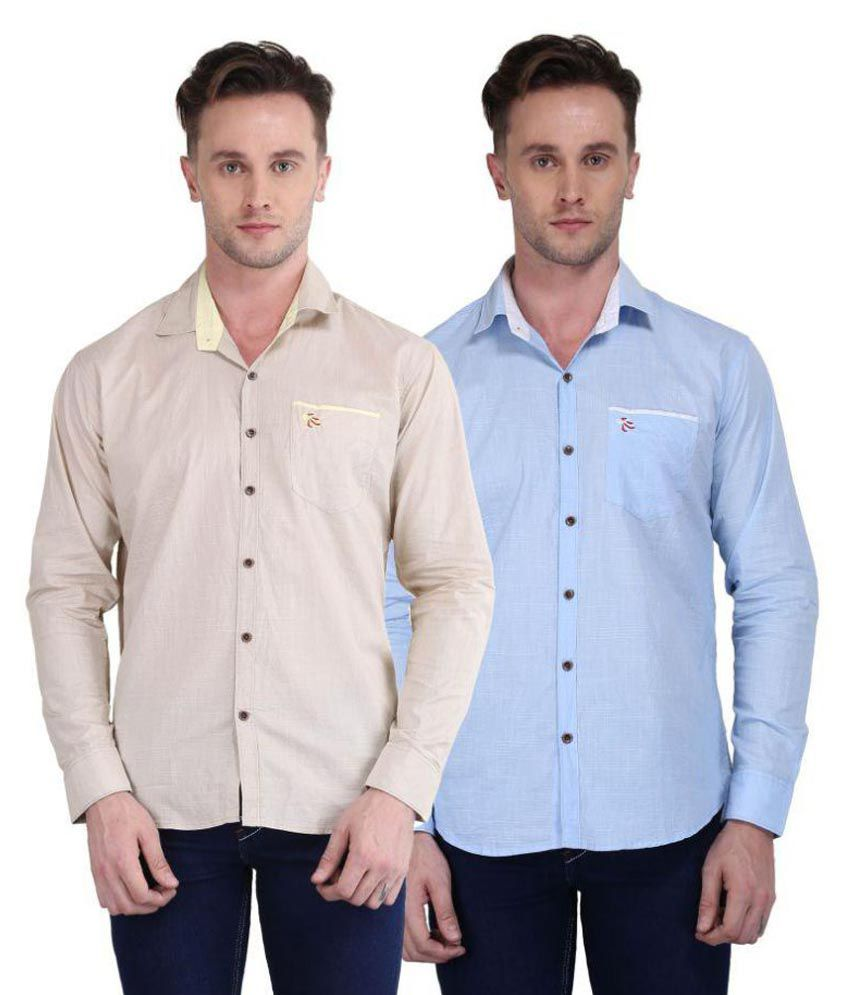 British Terminal Multi Casuals Slim Fit Shirt Pack of 2