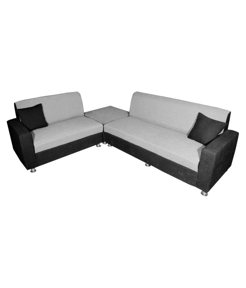 BLS Cosmo Fabric L Shape Sofa Buy BLS Cosmo Fabric L Shape Sofa
