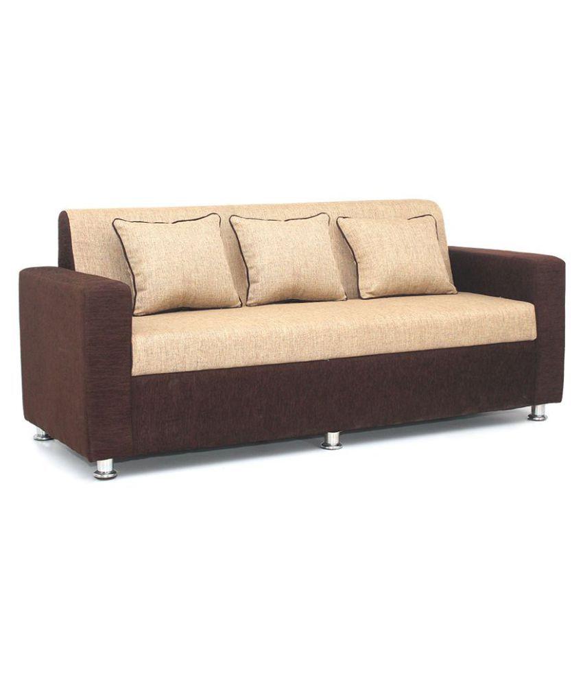 bharat lifestyle tulip fabric 3 seater sofa buy bharat lifestyle tulip rh snapdeal com