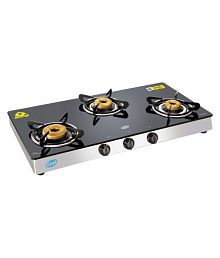 Glen GL 1038 GT AI Forged BB 3 Burner Auto Gas Stove