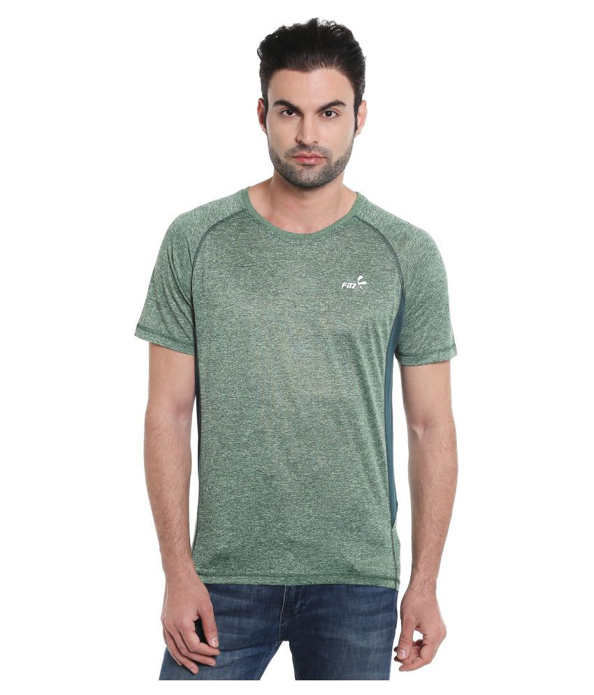 Fitz Green Polyester T-Shirt Single Pack