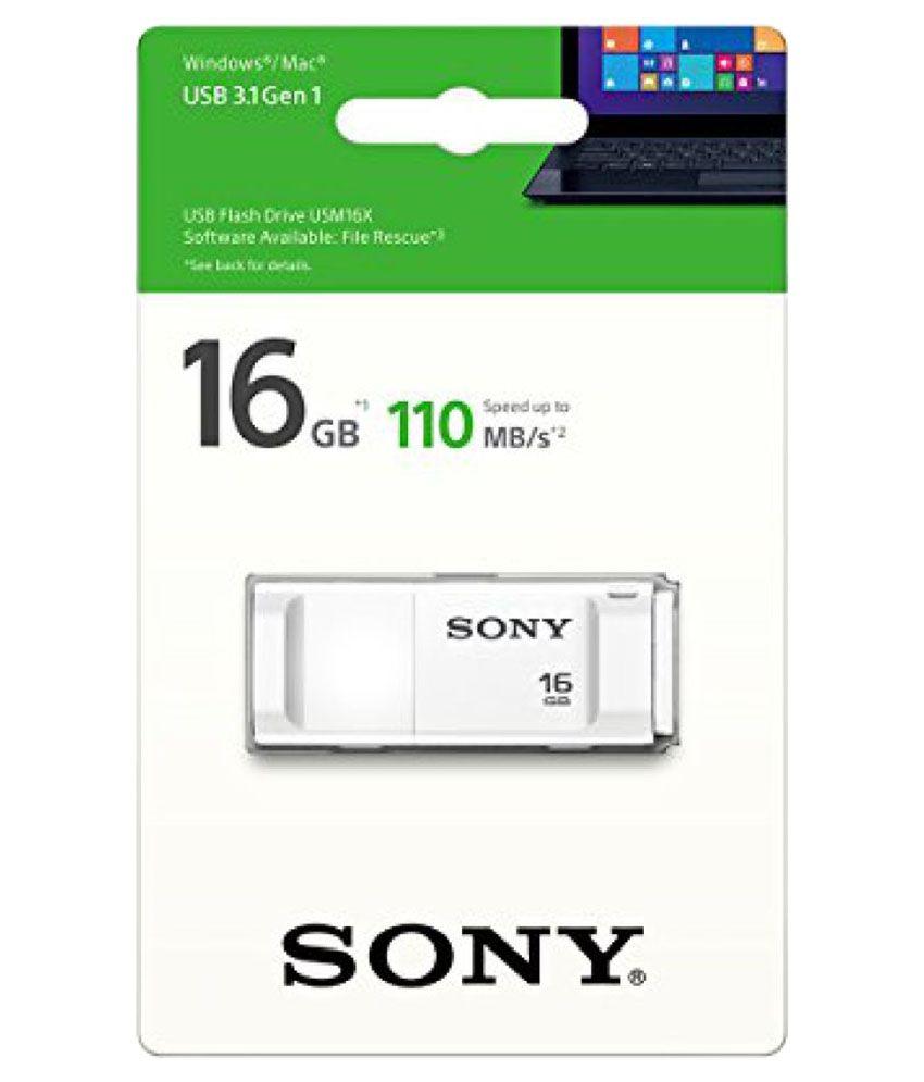 Sony USM16X/W2 USM16X/W2 16GB USB 3 0 Utility Pendrive White