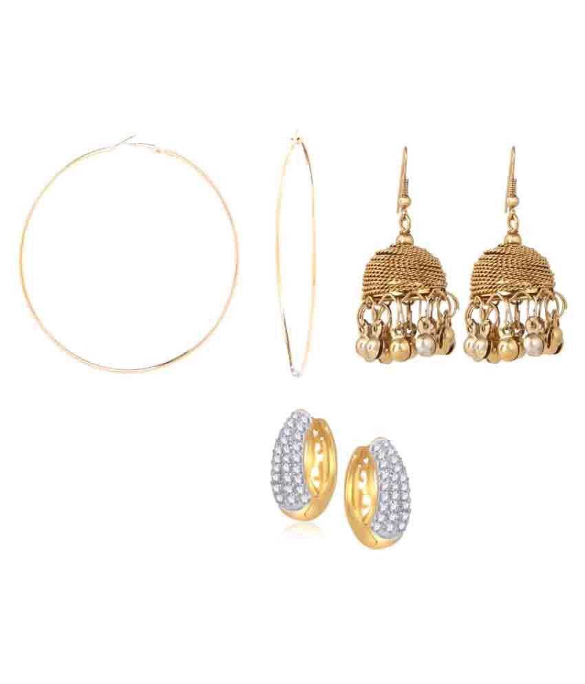 Efulgenz Combo of Trendy Earrings
