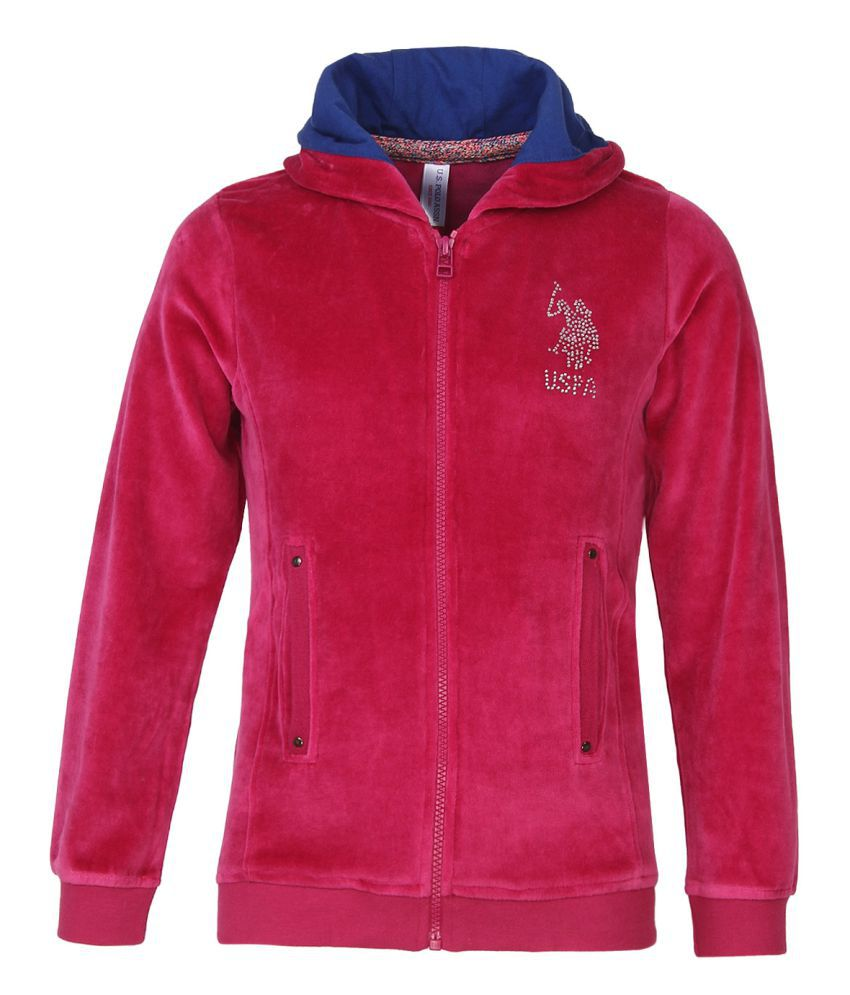 U.S.Polo Assn. Sports Wear-Ss-Full Sleeves-Pink