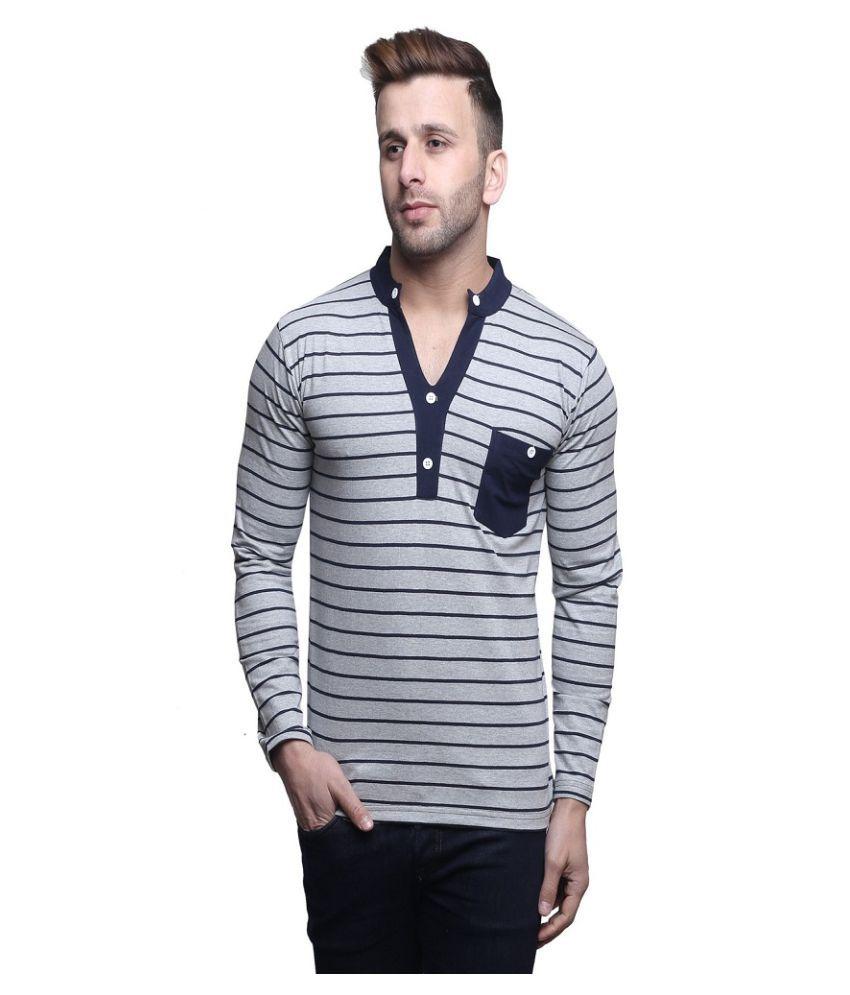 Leana Grey V-Neck T-Shirt
