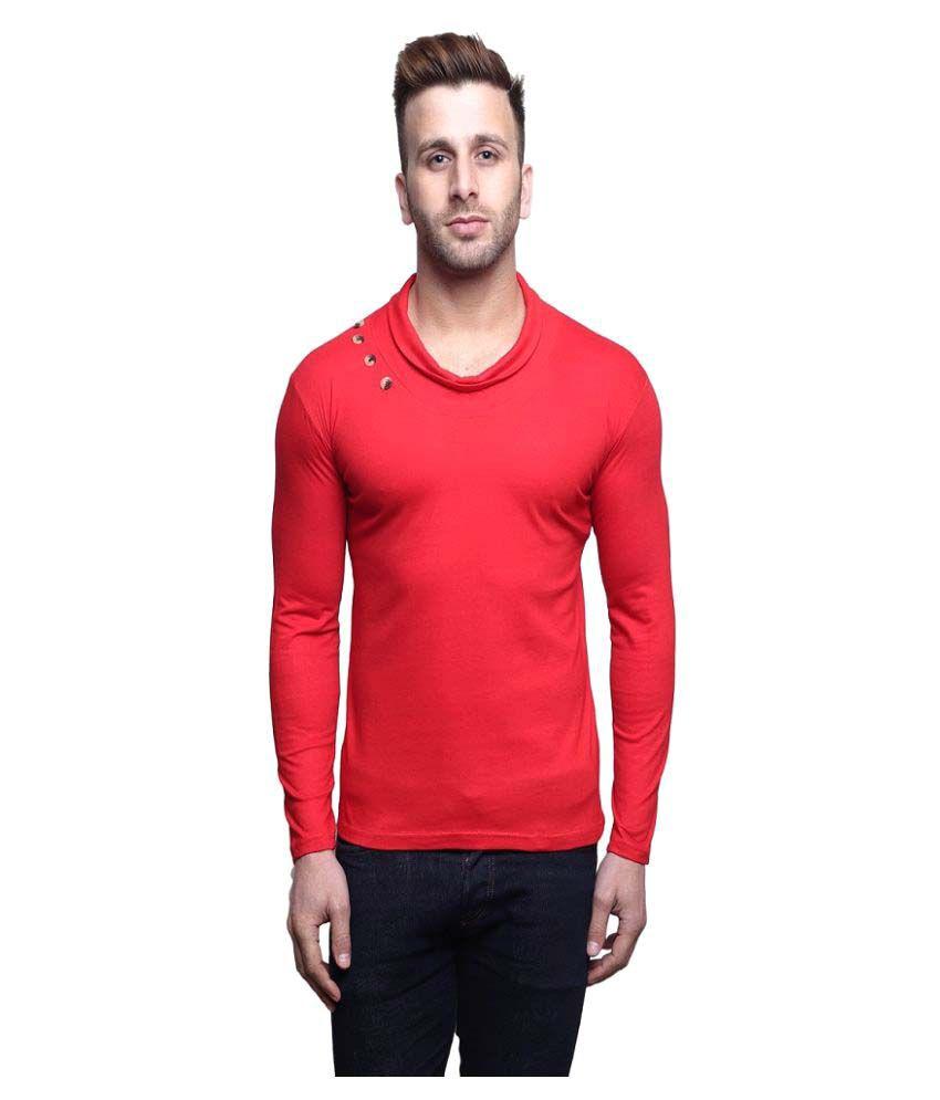 Leana Red Round T-Shirt
