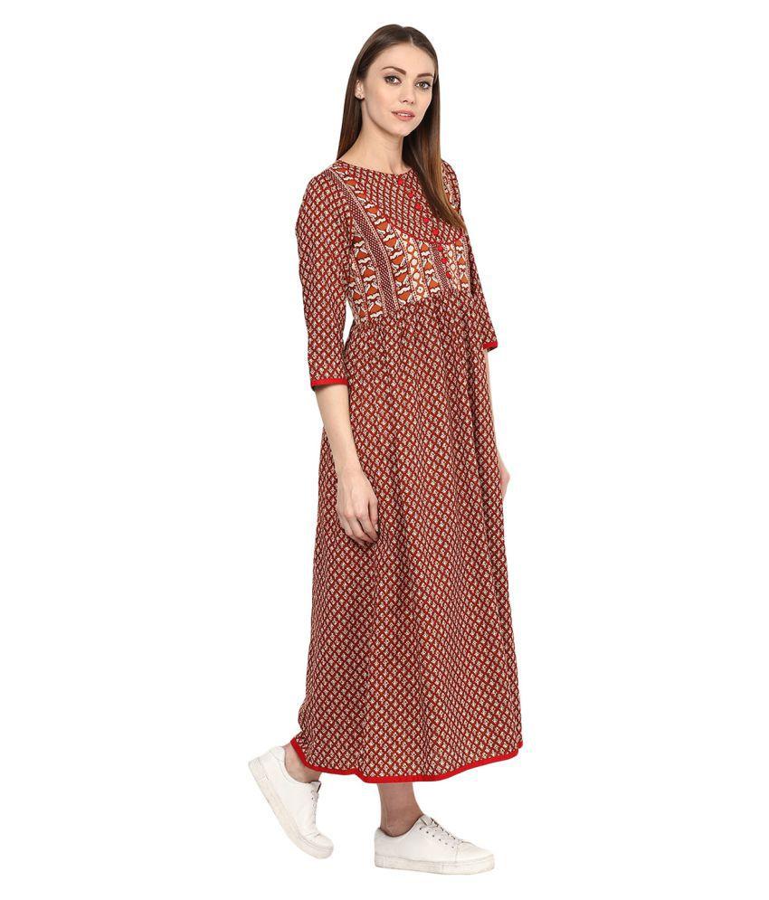 e71ff8d90 Jaipur Kurti Cotton Gown - Buy Jaipur Kurti Cotton Gown Online at ...