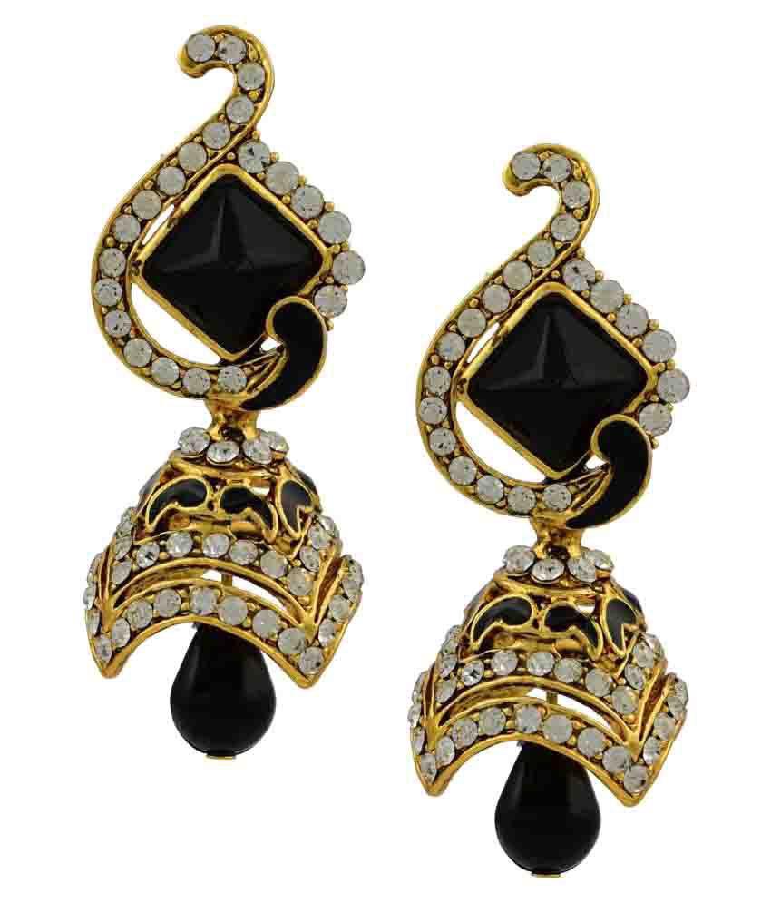High Trendz Multicolour Hanging Earrings Single Pair