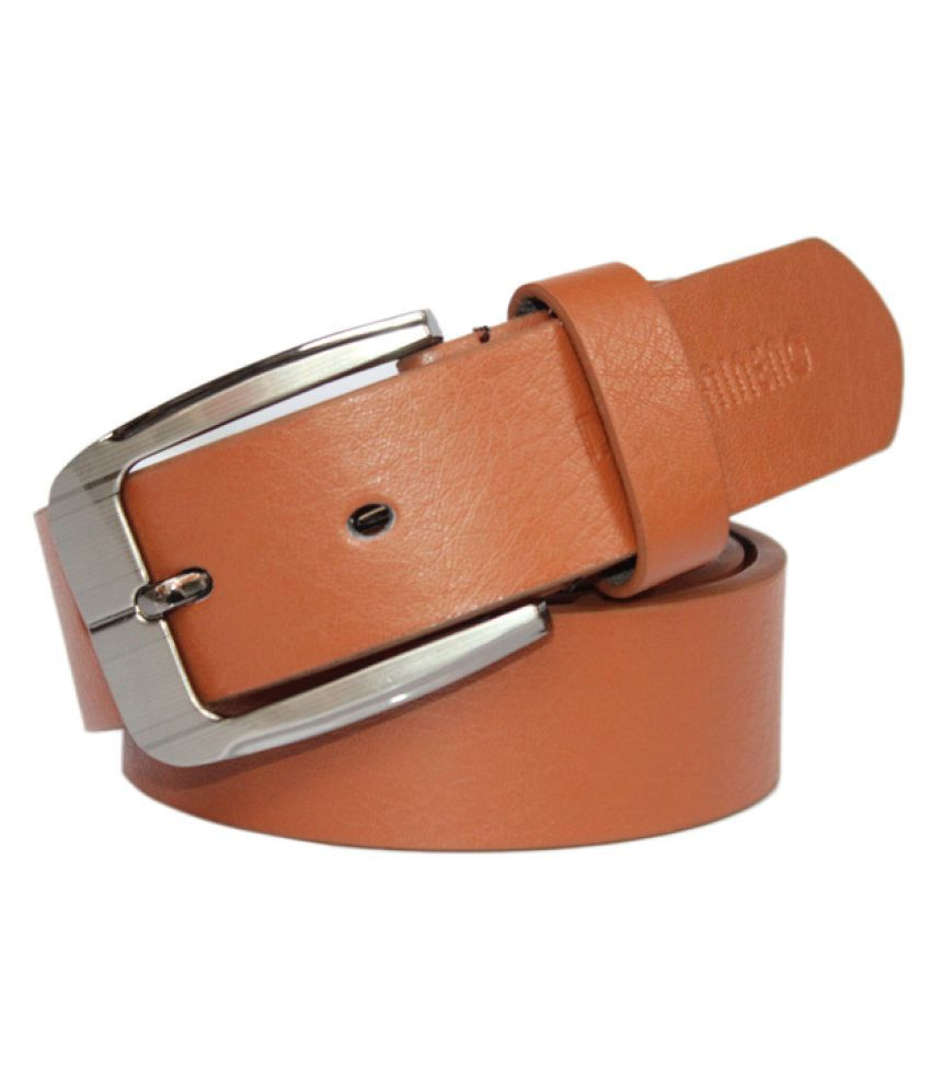 Winsome Deal Tan Faux Leather Formal Belts