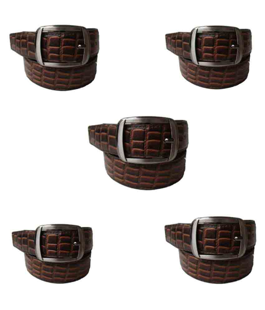 Klaska Brown Leather Casual Belts