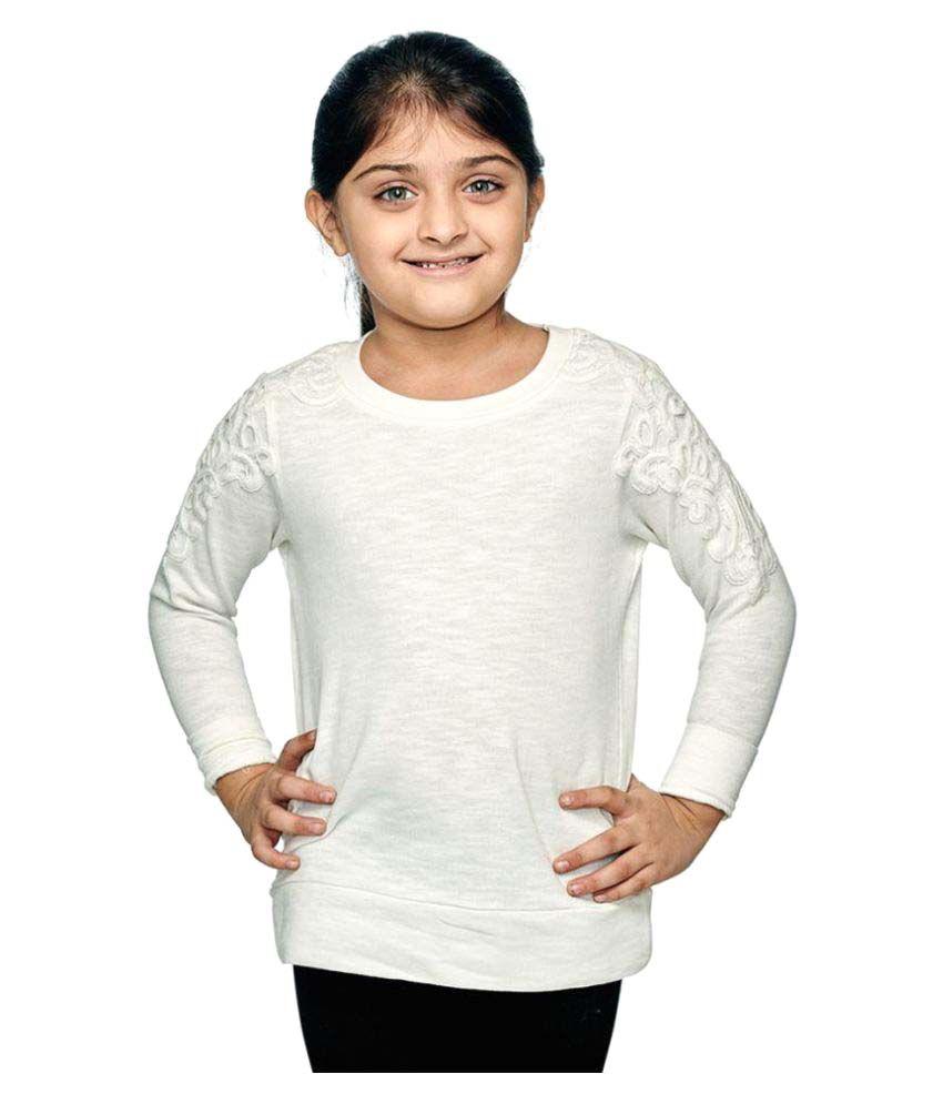 Ventra Girls Fleece Sweatshirt - White