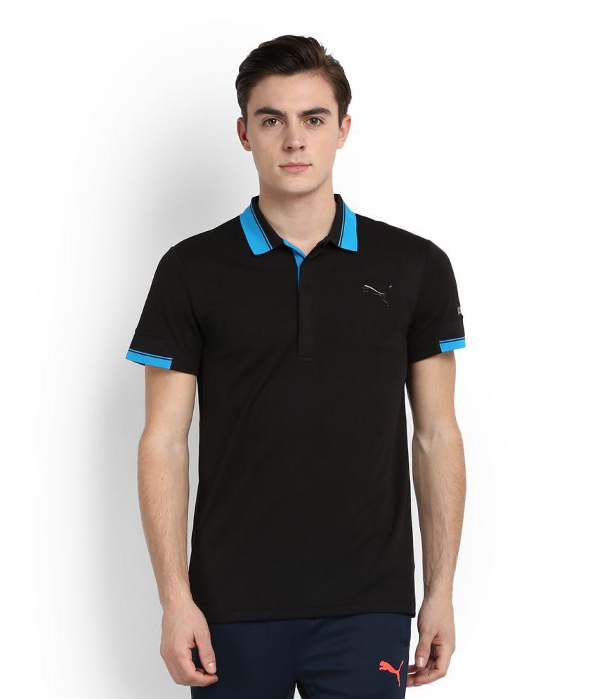 Puma Black High Neck T-Shirt