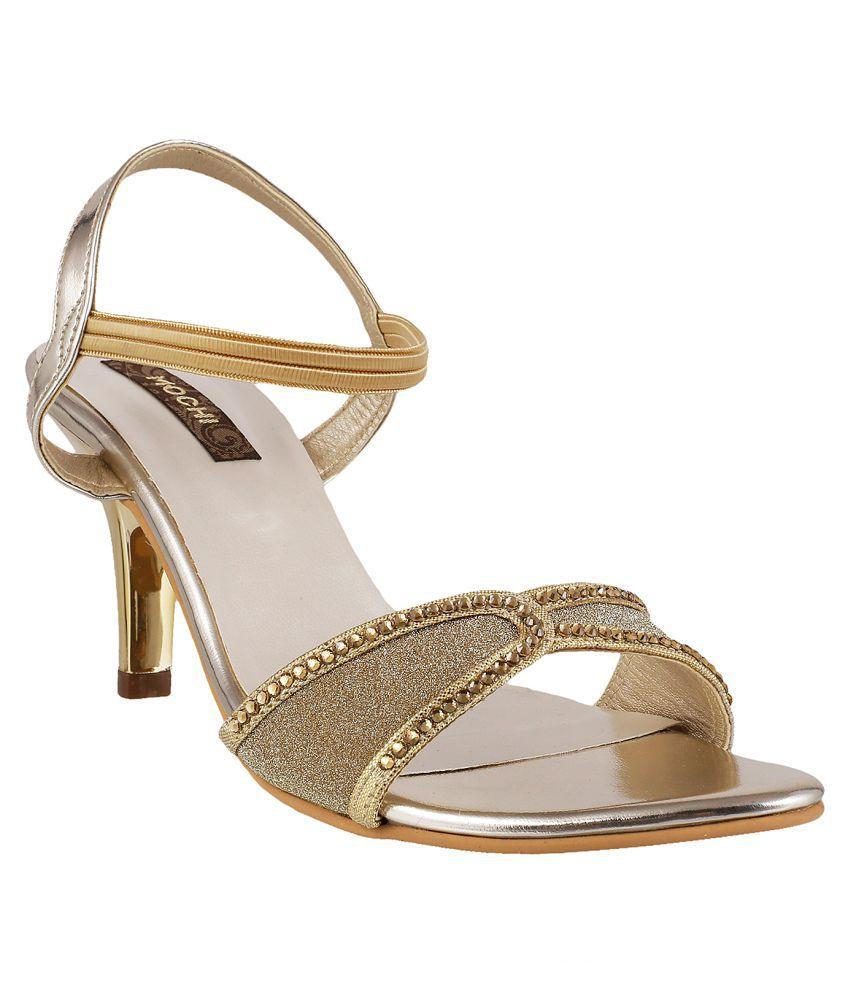 MOCHI GOLD Stiletto Heels