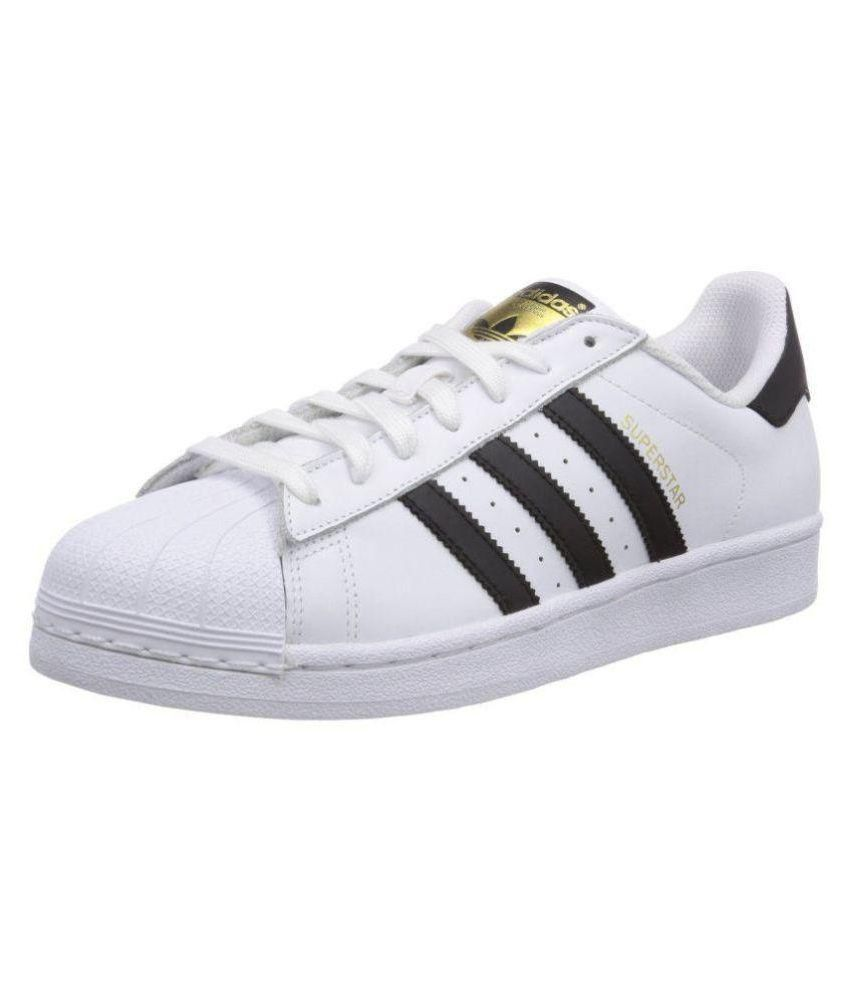 1dbe79ca64f Adidas Superstar White Running Shoes - Buy Adidas Superstar White Running  Shoes Online at Best Prices in India on Snapdeal