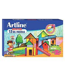 Artline Super Smooth Oil Pastel (12 Shades) (Pack Of 12)