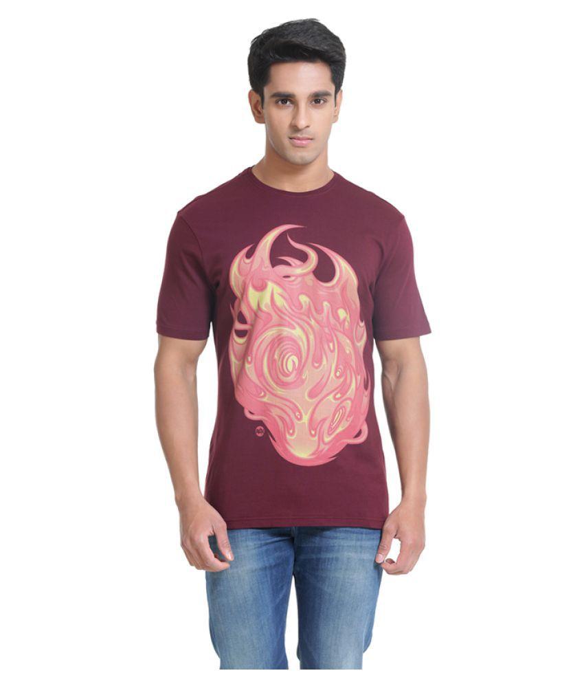 Samtana Maroon Round T-Shirt