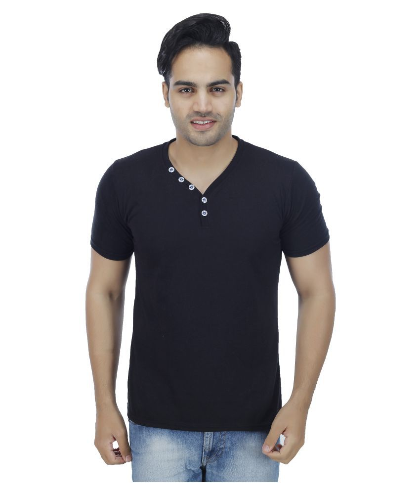 Christy World Black V-Neck T-Shirt