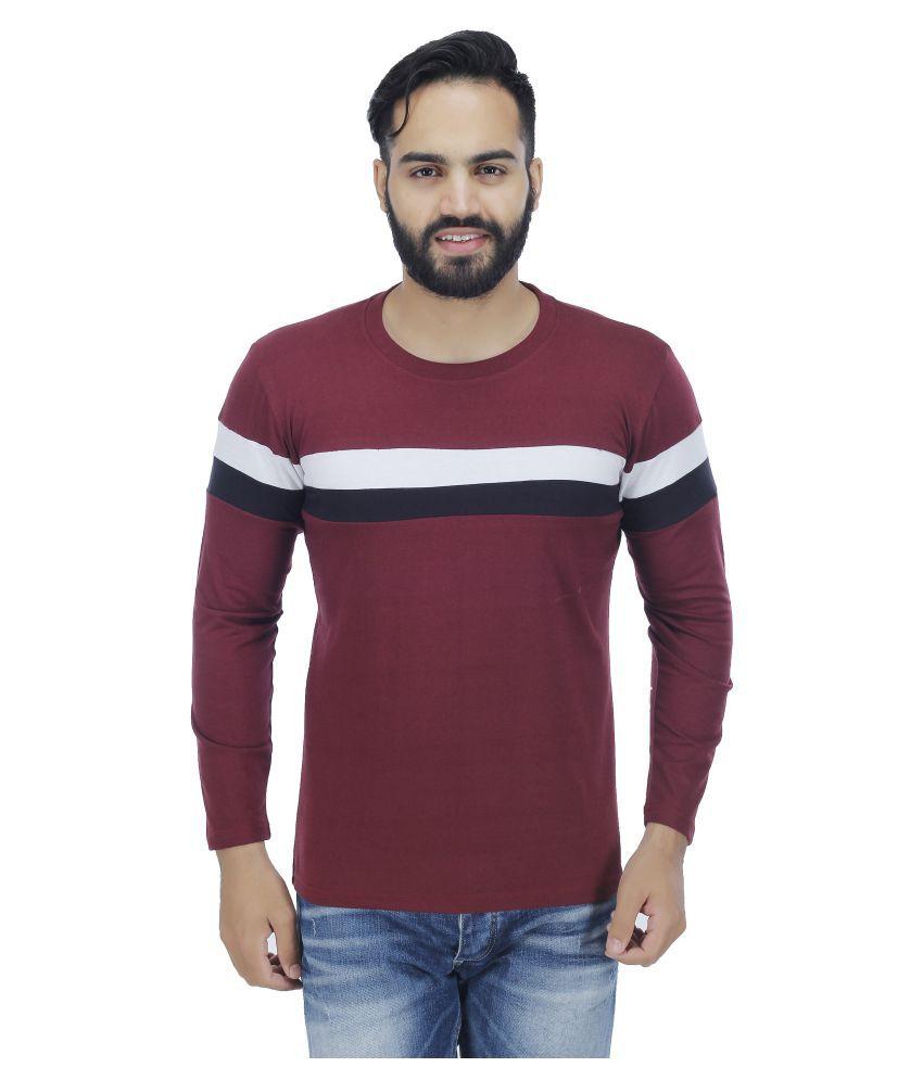 Christy World Maroon Round T-Shirt