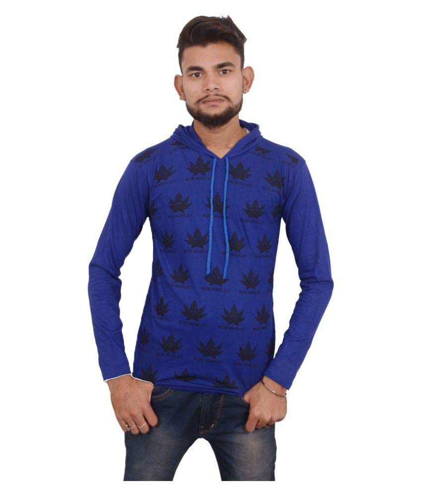 Hero & Piyush Blue Hooded T-Shirt