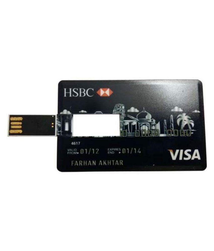 Flipfit Credit Card Pendrive Mnu9 64gb Usb 3 0 Fancy Pendrive Black