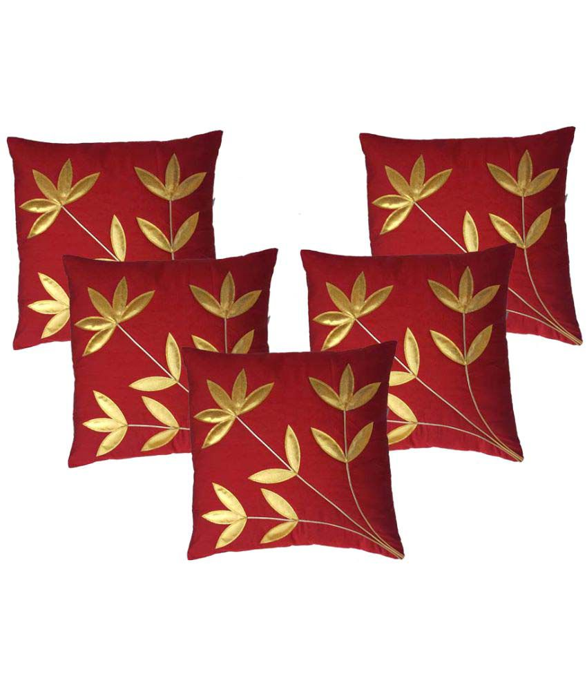 MSenterprises Set of 5 Polyester Cushion Covers 40X40 cm (16X16)