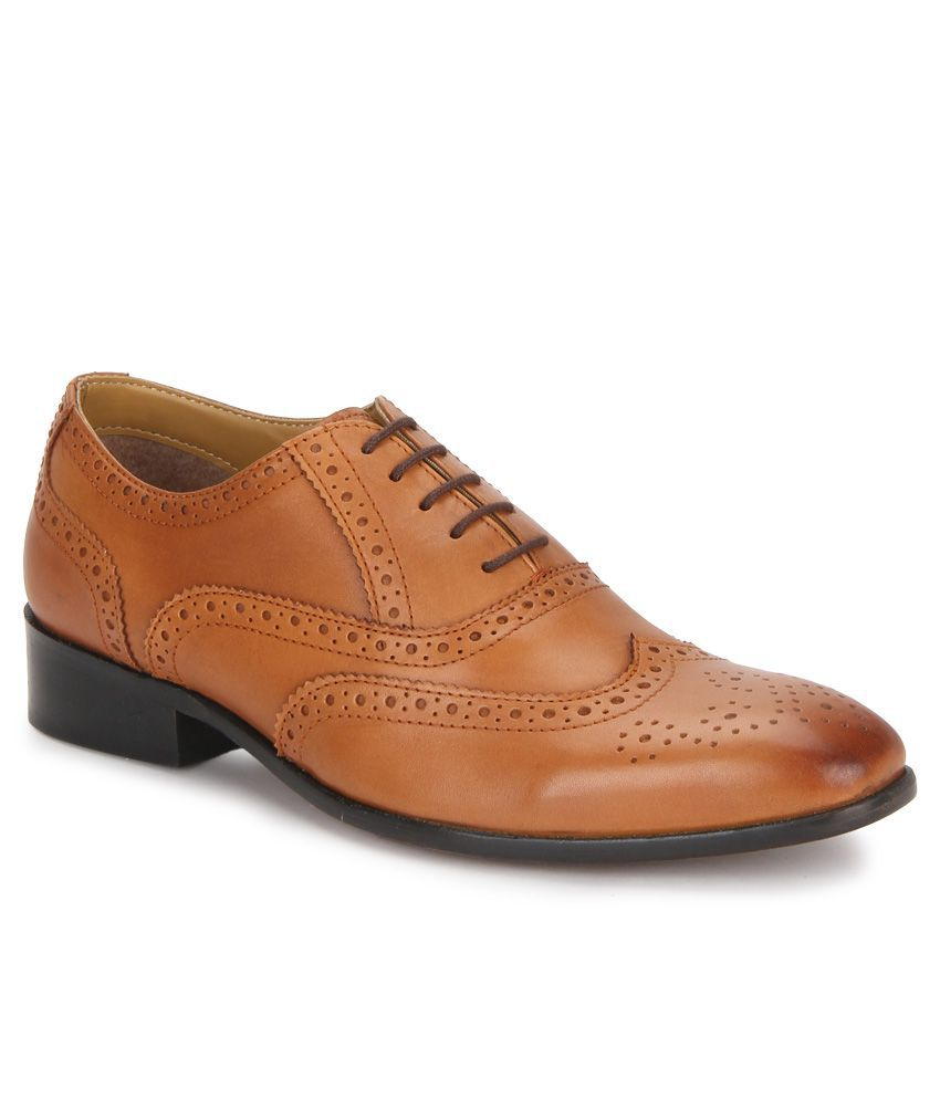 carlton derby genuine leather formal shoes