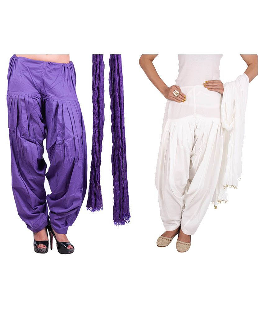 Rama Cotton Pack of 2 Patiala With Dupatta