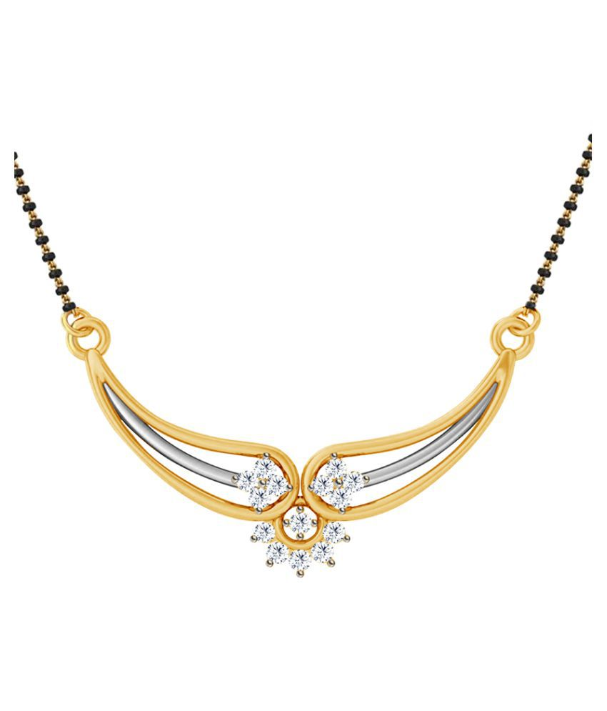 Jacknjewel 18k Yellow Gold Diamond Mangalsutra