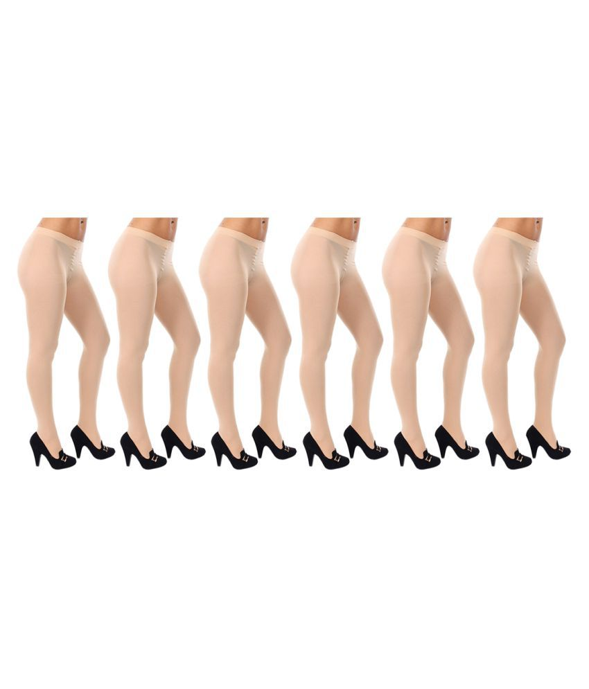 Gold Dust Long Comfort Cream Hose Stocking - Set of 6