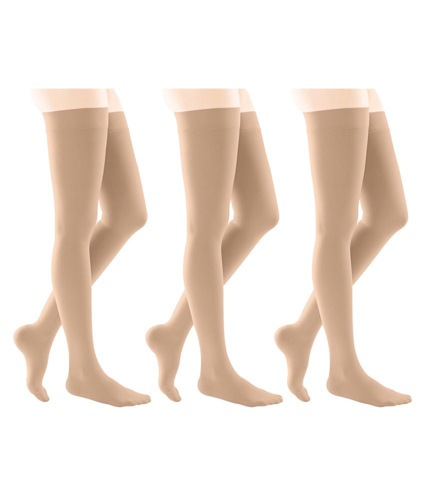 Gold Dust Beige Hose Stockings - Set of 3